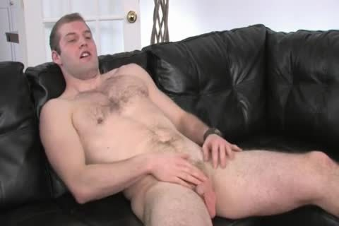 hairy Chested chap Beating his dong