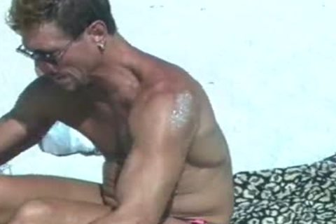 homo Muscle Beach And Hotel Room sleazy Sex Scene