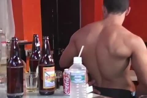 pumped up Latino Barman gets Sucked And hammered