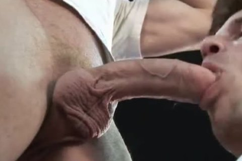 daddy's tongue, fingers and massive 10-Pounder in JEANS ass