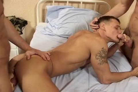 juicy Virile Military threesome In Bar