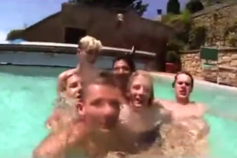 boys  orgy In The Pool