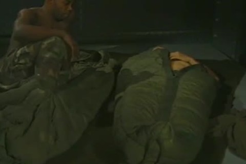 Hunky Army males sucking ramrod And Toes