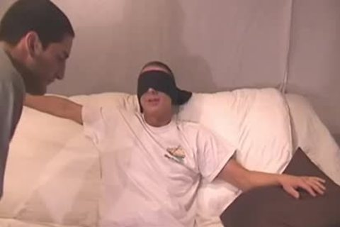 Straight lad Blindfolded And Tricked - Factory video