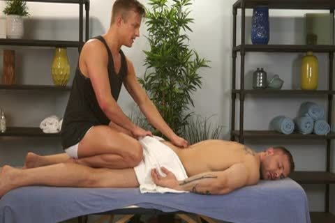 Austin Wolf And Skylar West In A sleazy gay Porn Massage