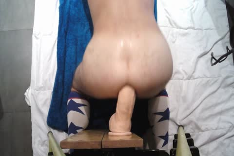 Playing With John Holmes dildo
