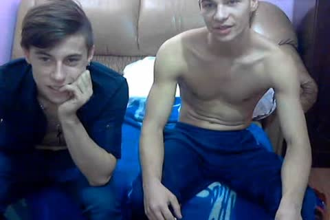 2 handsome bisex Romanian teens With worthwhile ramrods & lusty booties On web camera.