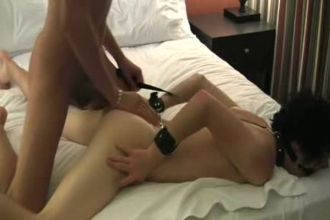 handcuffed twink receives A Creampie