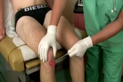 Doctor Finger pounds His twink Patient while he Jerks Off
