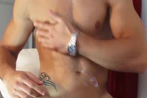 My Gym Trainer Made A Orn video: Watch His biggest rod receives Wanked!