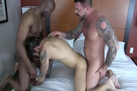 Champ Robinson, Draven Torres, Rocco Steele - Awesom three-some unprotected