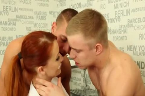 nasty ambisexual men nailing With A Redhead