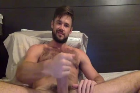 Porn Star Mike De Marko Strokes His humongous palpitating ramrod