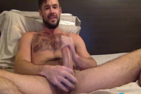 Mike De Marko Jerks Off His large Porn Star penis