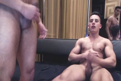 pumped up Ripped fellows Show Off Monster cocks