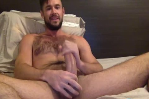 Mike De Marko Jerks His gigantic Porn rod