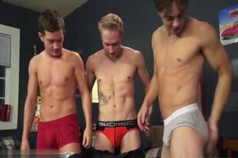 charming gay threesome And ejaculation