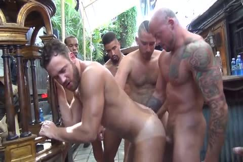 MusclePup Logan Moore gets gang gangbanged & Barebacked fuck