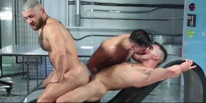ass Abduction - Francois Sagat with Lukas Daken throbbing wazoo pound