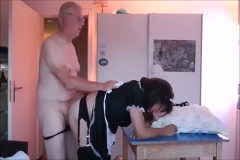 Maid Sissy Cleans abode Sucks ramrod gets boned