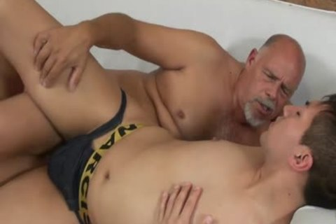 Smooth twink Barefucked By daddy plump chap
