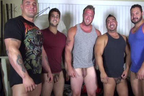 naked Party @ LATINO Muscle Bear house - non-professional joy W/ Aaron Bruiser