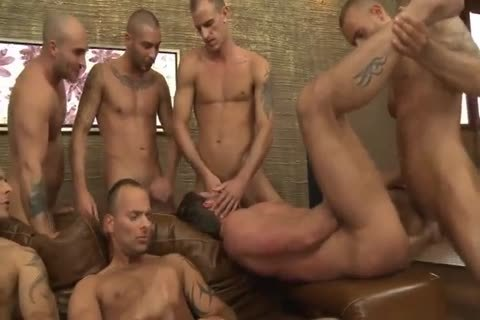Toby Dutch gets fucked In A Seven-man bare gang bone