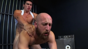 Axel Kane cock sucking in the prison