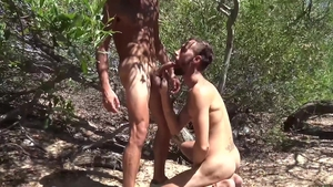 LatinLeche.com: Handsome friend threesome outdoors