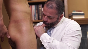 Missionary Boys: Furry Elder Sorensen stroking sex scene