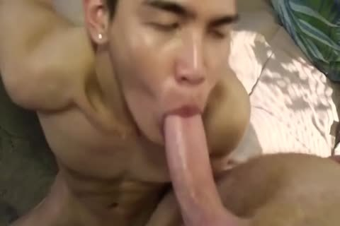 Smooth asian boy slammed By coarse White Top