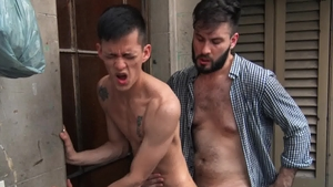 Reality Dudes - Black haired asian twink Andres enjoying Diego