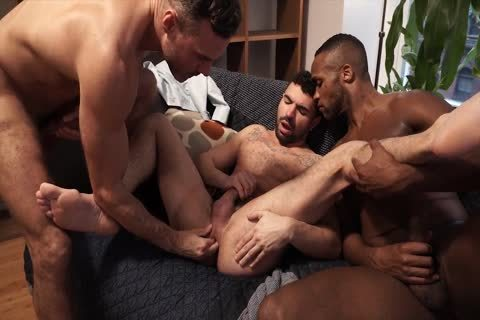 lovely threesome - Fisting, butthole invasion, oral job, sperm On wazoo