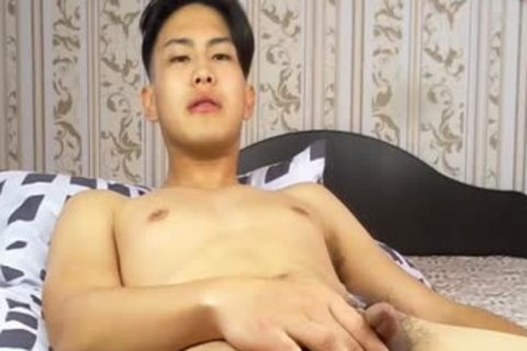 dirty Korean lad Tugging petite dong And Shotting Loads Of sperm