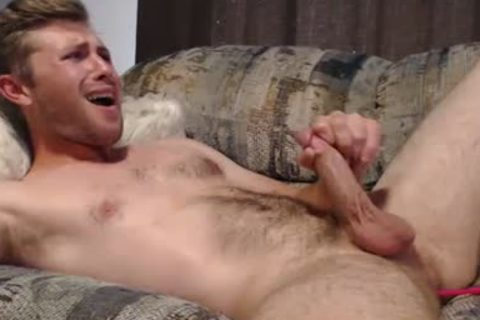 Blond twink Masturbates And Swallows His Own sperm