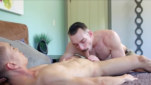 Next Door Originals - Marcus Tresor kissing each other