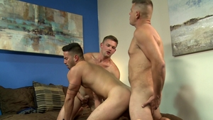 Extra Big Dicks - Hairy Cesar Rossi jerking Jace Chambers