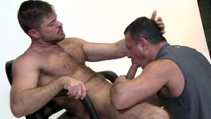 MenOver30: Tony Lazzari with Jack Andy condom blowjob