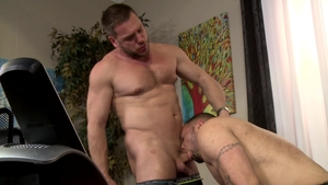 Men Over 30 - Julian Knowles beside Hans Berlin throat fucking