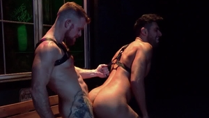 Raging Stallion: Jack Vidra among Mick Stallone cumshot