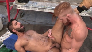 Hot House: Ginger latino buff Adam Ramzi licks balls