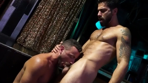 Falcon Studios: Wet Adam Ramzi have sex with huge cock stud