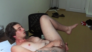 DirtyScout: Muscle gay likes fingering