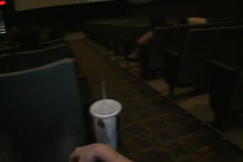 Public gay sex -- In a plowing movie theater!